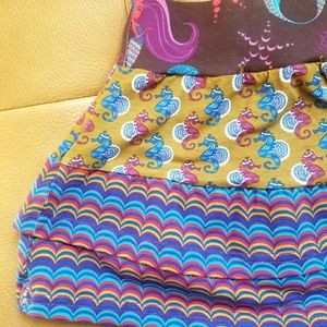 Jelly The Pug Bottoms - Layered Jelly the Pug Skirt - Girls size 3T